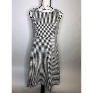 Loft Dress Black & White Chevron print - size 8